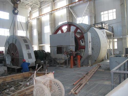主井采用塔式多绳摩擦轮提升机