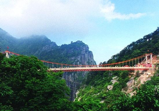 庐山风景名胜区石门涧悬索桥